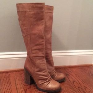 Jessica Simpson Brown Leather Boots size 8.5